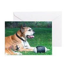 Boxer and Puppy Greeting Card