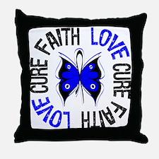 Colon Cancer Faith Throw Pillow
