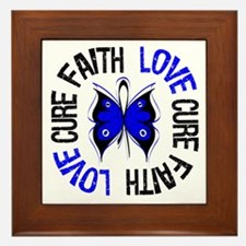 Colon Cancer Faith Framed Tile