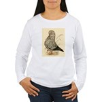 Tumbler Pigeon: Black Splash Women's Long Sleeve T