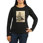 Tumbler Pigeon: Black Splash Women's Long Sleeve D