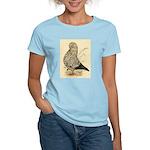 Tumbler Pigeon: Black Splash Women's Light T-Shirt