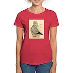Tumbler Pigeon: Black Splash Women's Dark T-Shirt