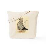 Tumbler Pigeon: Black Splash Tote Bag