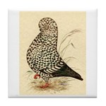 Tumbler Pigeon: Black Splash Tile Coaster