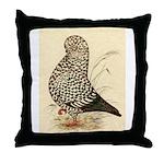 Tumbler Pigeon: Black Splash Throw Pillow