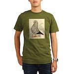 Tumbler Pigeon: Black Splash Organic Men's T-Shirt