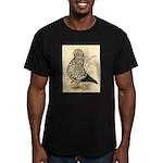 Tumbler Pigeon: Black Splash Men's Fitted T-Shirt