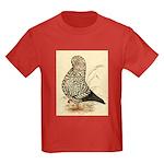 Tumbler Pigeon: Black Splash Kids Dark T-Shirt