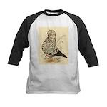 Tumbler Pigeon: Black Splash Kids Baseball Jersey