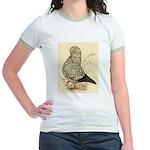 Tumbler Pigeon: Black Splash Jr. Ringer T-Shirt