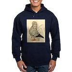 Tumbler Pigeon: Black Splash Hoodie (dark)