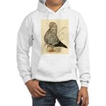 Tumbler Pigeon: Black Splash Hooded Sweatshirt