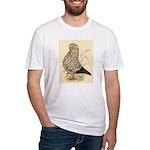 Tumbler Pigeon: Black Splash Fitted T-Shirt