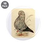 "Tumbler Pigeon: Black Splash 3.5"" Button (10"