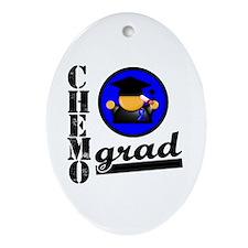 Chemo Grad Colon Cancer Oval Ornament