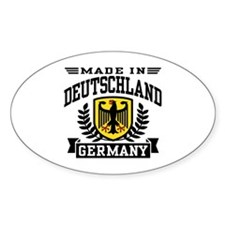 Made In Deutschland Oval Decal