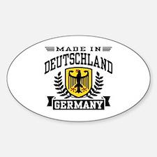 Made In Deutschland Oval Decal