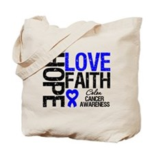 Colon Cancer Faith Tote Bag