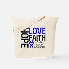 Colon Cancer Faith Tote Bag