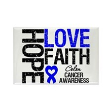 Colon Cancer Faith Rectangle Magnet