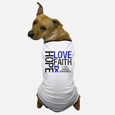 Colon Cancer Faith Dog T-Shirt