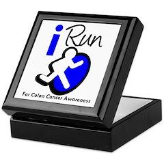 I Run Colon Cancer Keepsake Box