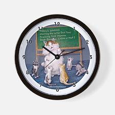 Teaching Cat Wall Clock