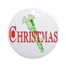 Screw Christmas Ornament (Round)