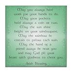 irish blessing (sq) Tile Coaster