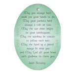 irish blessing (sq) Ornament (Oval)