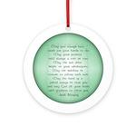 irish blessing (sq) Ornament (Round)