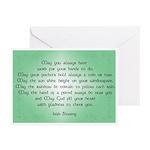 irish blessing (sq) Greeting Cards (Pk of 10)