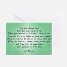 irish blessing (sq) Greeting Cards (Pk of 10)