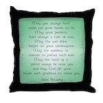 irish blessing (sq) Throw Pillow