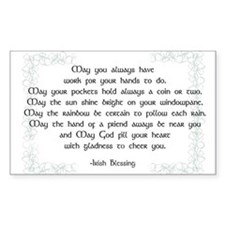irish blessing (sq) Decal