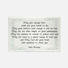 irish blessing (sq) Rectangle Magnet