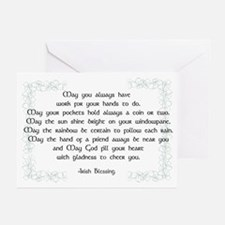 irish blessing (sq) Greeting Cards (Pk of 20)