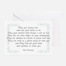 irish blessing (sq) Greeting Cards (Pk of 20)
