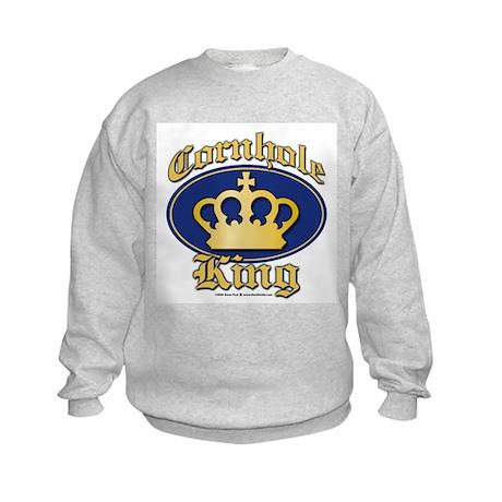 Cornhole King Kids Sweatshirt