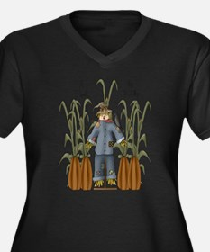 A Time to Reap Scarecrow Women's Plus Size V-Neck