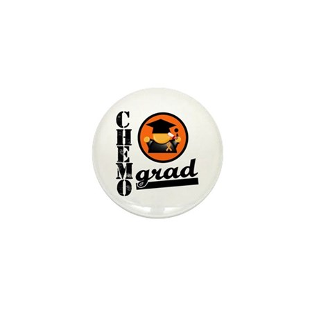 Chemo Grad Leukemia Mini Button (100 pack)