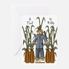 A Time to Reap Scarecrow Greeting Card