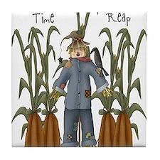 A Time to Reap Scarecrow Tile Coaster