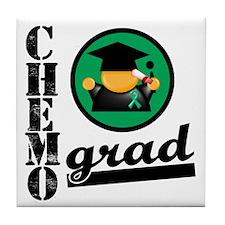 Chemo Grad Liver Cancer Tile Coaster