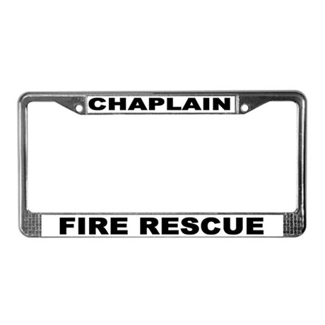 Fire Rescue License Plate Frame