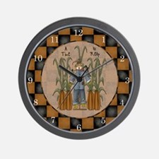A Time to Reap Scarecrow Wall Clock