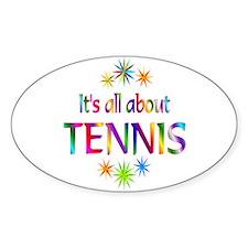 Tennis Oval Sticker (10 pk)