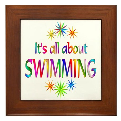 Swimming Framed Tile