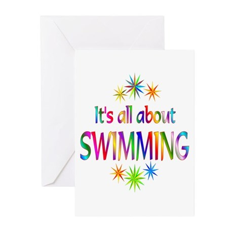 Swimming Greeting Cards (Pk of 20)